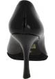 Miu Miu Pumps Schuhe hoher spule Absatz für Frauen aus schwarzem lackleder
