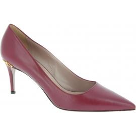 Gucci Pumps Spitze Schuhe Stiletto Absatz für Frauen aus weinrotem kalbsleder