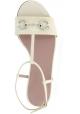 Gucci Flache Sandalen mit Knöchelriemen für Frauen aus Weißem lackleder