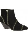 Zanotti Stiefeletten westliche Ferse für Damen in schwarz wildleder