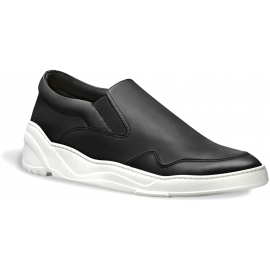 Dior Herren schwarze Leder Slip-ons Sneaker Schuhe