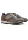 Hogan Herren Sneakers aus braunem / grauem Leder und Stoff