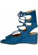 Chloé niedrigen Wedge heels Sandaletten in Ãœbersee Veloursleder