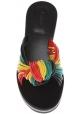 Chloé-Frauen niedrige Keil Hausschuhe in multicolor Leder