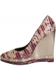 Lanvin wedges Pumps in Pink/weiß Schlangenleder