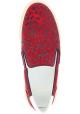 Saint Laurent Schnürlose Slipper Leopardenmuster für Frauen aus rotem leder