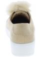 Steve Madden Plateau-Sneakers ohne Schnürung für Frauen in beige wildleder