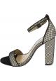 Steve Madden Sandalen mit hohen Absätzen für Frauen in schwarzem stoff