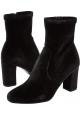 Steve Madden Stiefeletten mit Absatz und zip für Frauen in schwarzem samt